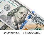 macro shot of a 100 dollar.... | Shutterstock . vector #1622070382