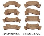 set of wooden banners with... | Shutterstock .eps vector #1622105722