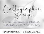 vector calligraphic script font.... | Shutterstock .eps vector #1622128768