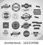 vector design elements  quality ... | Shutterstock .eps vector #162214586