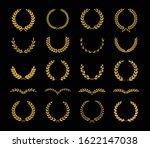 set of twenty different golden...   Shutterstock .eps vector #1622147038
