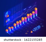 world economic growth by month. ... | Shutterstock .eps vector #1622155285