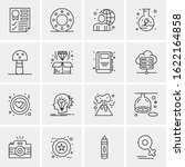 business icon set. 16 universal ...   Shutterstock .eps vector #1622164858