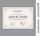template certificate and award... | Shutterstock .eps vector #1622166358