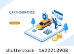 man character signing car... | Shutterstock .eps vector #1622213908