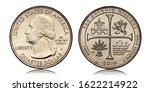 American Quarter Dollar Coin...