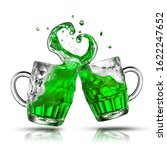 Fresh Green Beer Splashes From...