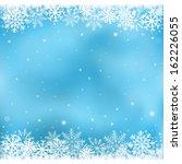 the white snow on the blue mesh ... | Shutterstock .eps vector #162226055