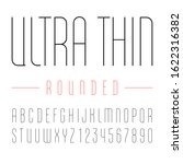font from rounded ultra thin... | Shutterstock .eps vector #1622316382