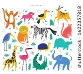 african animals and plants flat ...   Shutterstock .eps vector #1622357818