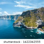 rocky cliff shore aerial view... | Shutterstock . vector #1622362555