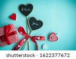 valentine's day concept. top... | Shutterstock . vector #1622377672