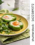 Fried Eggs Shamrock In Green...