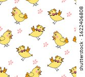 seamless pattern with yellow... | Shutterstock .eps vector #1622406808
