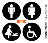 vector  toilet sign with toilet ... | Shutterstock .eps vector #162240746