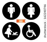 vector  toilet sign with toilet ... | Shutterstock .eps vector #162240746