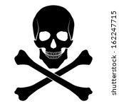 skull and bones | Shutterstock .eps vector #162247715