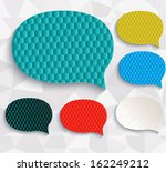 multicolored speech bubbles.