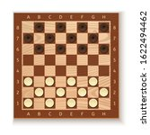 checkers and chess board. white ...   Shutterstock .eps vector #1622494462