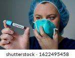 Nurse Wearing Respirator Mask...