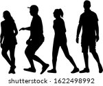 group of people. crowd of... | Shutterstock . vector #1622498992