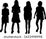 children black silhouettes.... | Shutterstock . vector #1622498998