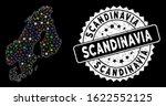 bright mesh scandinavia map... | Shutterstock .eps vector #1622552125
