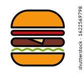 burger hamburger logo icon... | Shutterstock .eps vector #1622569798