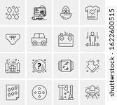 business icon set. 16 universal ... | Shutterstock .eps vector #1622600515