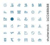 editable 36 recreation icons... | Shutterstock .eps vector #1622688688