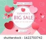 big valentines day sale.... | Shutterstock .eps vector #1622703742