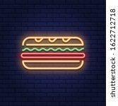 vector neon sandwich icon... | Shutterstock .eps vector #1622712718