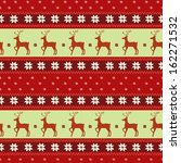 seamless christmas pattern with ... | Shutterstock .eps vector #162271532