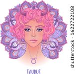 drawing of taurus astrological...   Shutterstock .eps vector #1622722108