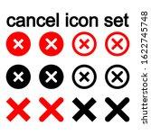 cancel icon set. flat... | Shutterstock .eps vector #1622745748