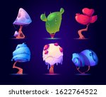 fantasy mushrooms or alien... | Shutterstock .eps vector #1622764522