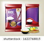 rice food or thai food  package ... | Shutterstock .eps vector #1622768815