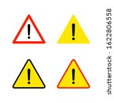 warning attention icon. flat... | Shutterstock .eps vector #1622806558