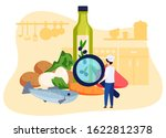 restaurant chef looking at... | Shutterstock .eps vector #1622812378