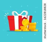 gift box with money win present ... | Shutterstock .eps vector #1622818828