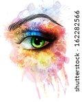 eye made of colorful splashes | Shutterstock .eps vector #162282566