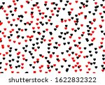 love vector pattern. red and... | Shutterstock .eps vector #1622832322