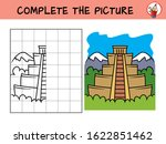 complete the picture of a mayan ... | Shutterstock .eps vector #1622851462