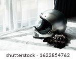 Vintage Silver Motorcycle...