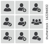 vector black people icons set | Shutterstock .eps vector #162286832