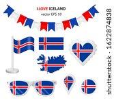 iceland symbols attributes.... | Shutterstock .eps vector #1622874838