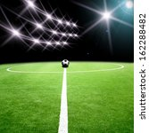 soccer stadium with the lights | Shutterstock . vector #162288482