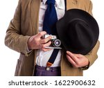 retro paparazzi in a suit and... | Shutterstock . vector #1622900632