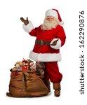 full length portrait of a santa ... | Shutterstock . vector #162290876