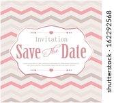 wedding card or invitation | Shutterstock .eps vector #162292568